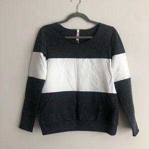 Brand new w/ tags: gray & white sweatshirt